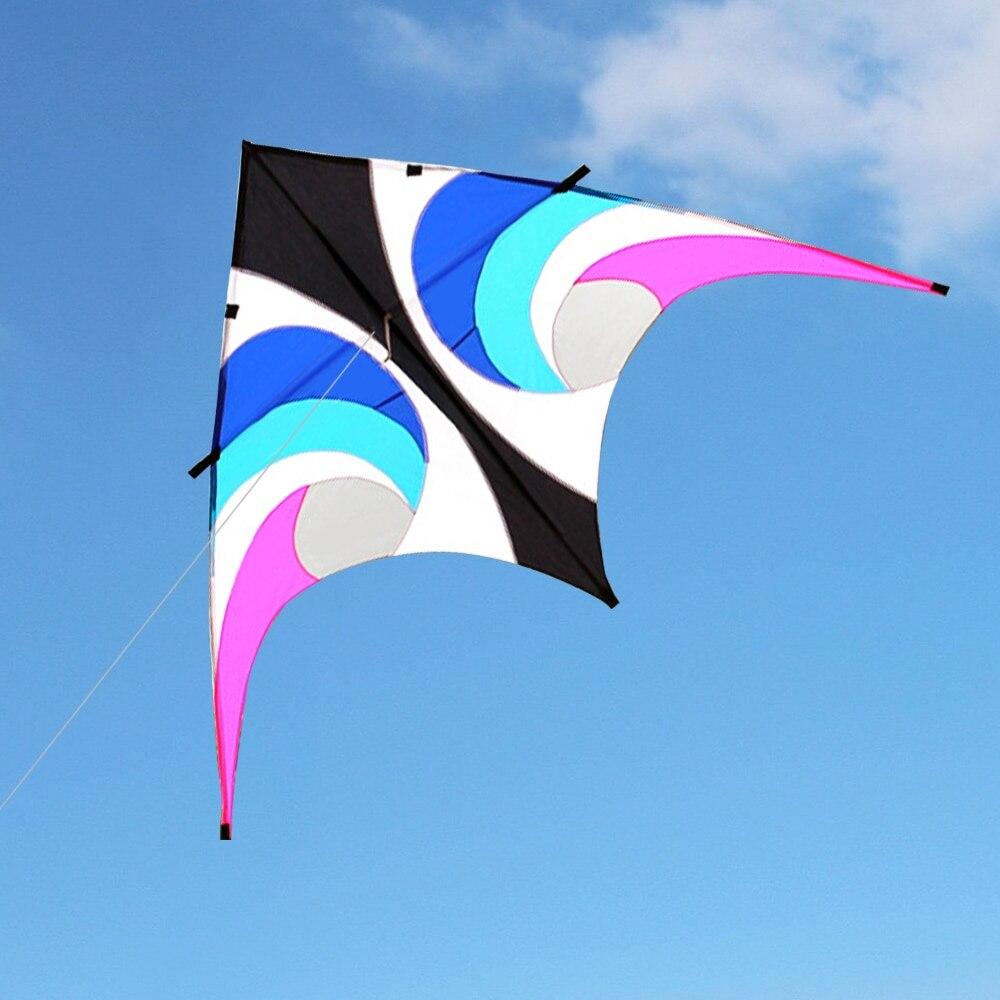 Cerf-volant volant en forme de Delta énorme coloré avec ligne volante de 30 m jardin de plage en plein air pour enfants adultes - 3