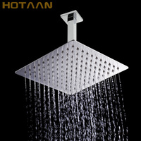 Free shipping 8 Stainless Steel Shower Head Ultra thin With Shower Arm Ceiling Mounted Rain Top Shower Head,Chuveiro YT 5135