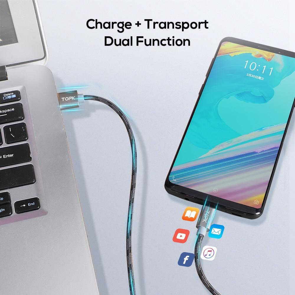 TOPK բնօրինակի միկրո USB մալուխ - Բջջային հեռախոսի պարագաներ և պահեստամասեր - Լուսանկար 4