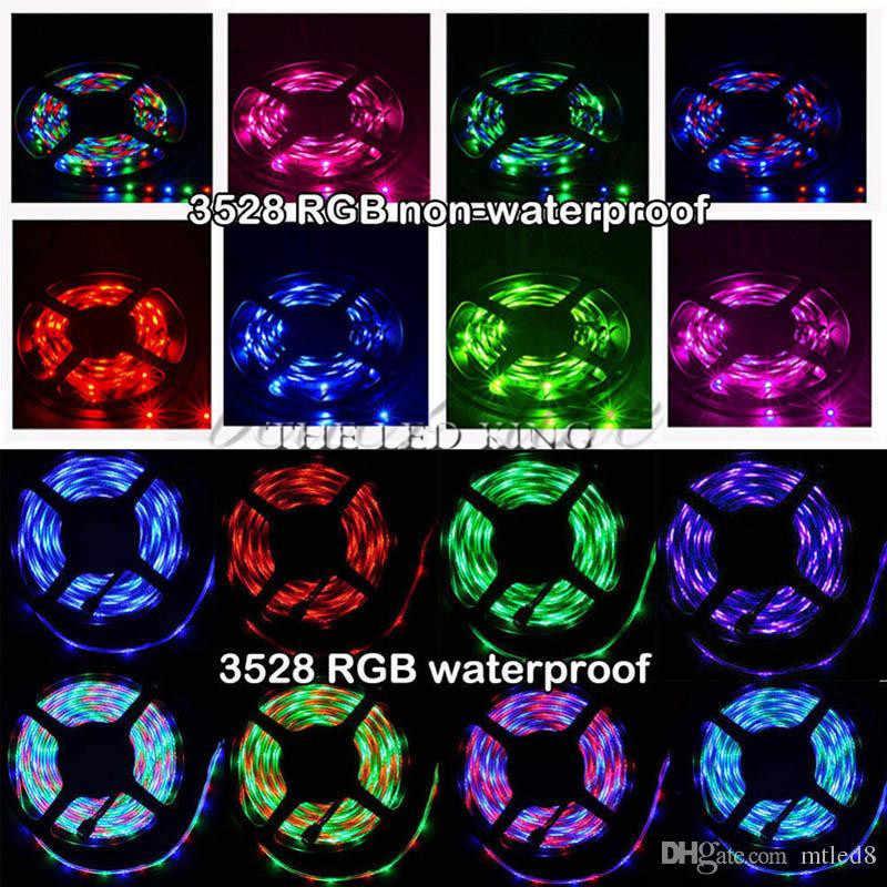 RGB LED רצועת אור 2835 SMD 5 m 60 נוריות/m כולל 12 v 2A כוח מתאם LED קלטת חם לבן, לבן, אדום, כחול, ירוק, צהוב