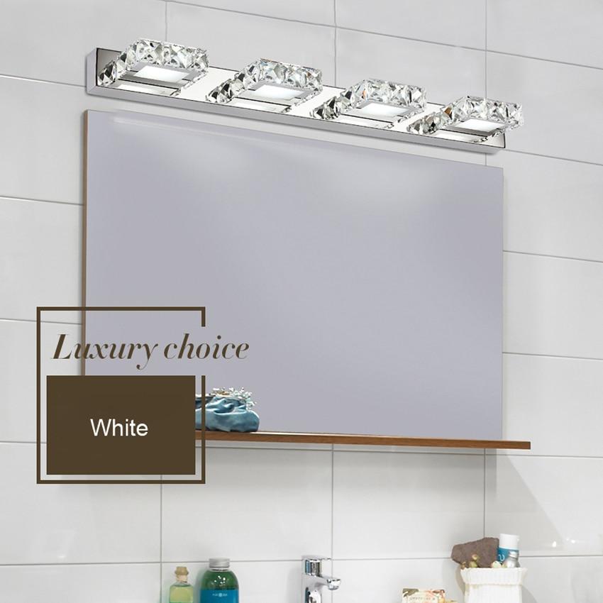 Luxury Crystal Bathroom Led Mirror Light Fixture 12w 9w 6w Led Modern Waterproof Anti Fog Bath