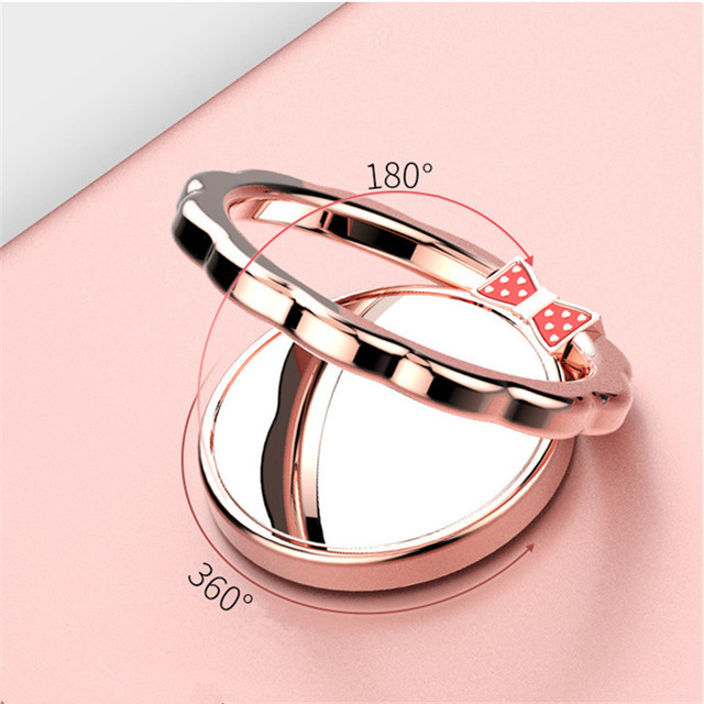 Pansy Butterfly Flower Ring Phone Holder Mirror Ring Phone Holder 360 Rotatable Finger Ring Holder Stand Mount Support Display