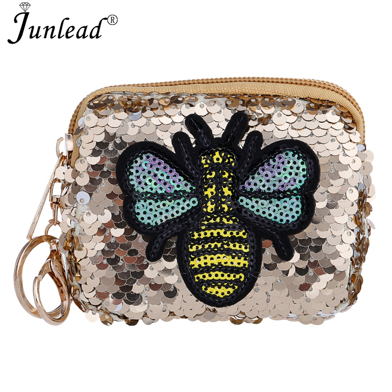 Junlead Charm Sparkly Sequins Bee Coin Purse Fashion Square KeyChains Cute  Card Coin Purse For Women MIni Bag Gift Jewelry 2018-in Key Chains from  Jewelry ... 94e82ab7c0b0