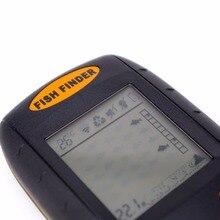 Portable Sonar Fish Finder Depth Underwater Fishing Camera Sounder Alarm Transducer Fishfinder 100m temperature echo sounder