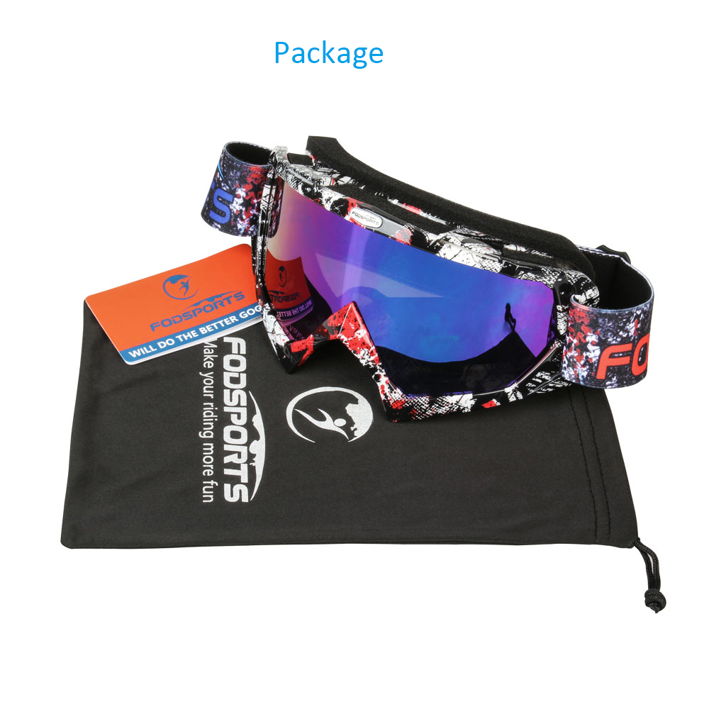 Fodsports Motocross Goggles Glasses Cycling Eye Ware Off Road Helmets Goggles Sport Glasses for Motorcycle Bike Racing Goggle fox racing youth main goggles roll off kit