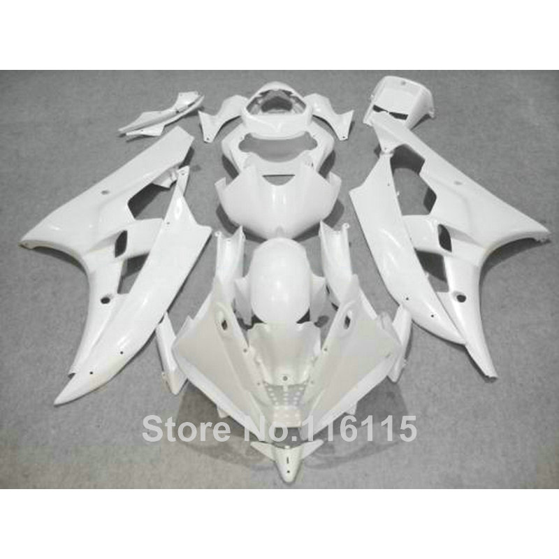 Body kits Fit for YAMAHA YZF R6 2006 2007 all white fairings set YZF-R6 06 07 fairing kit Injection molding HY20
