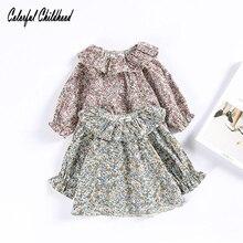 Топы для маленьких девочек; детская футболка; коллекция года; брендовая весенне-летняя детская блузка для девочек; одежда с цветочным принтом; детская верхняя одежда