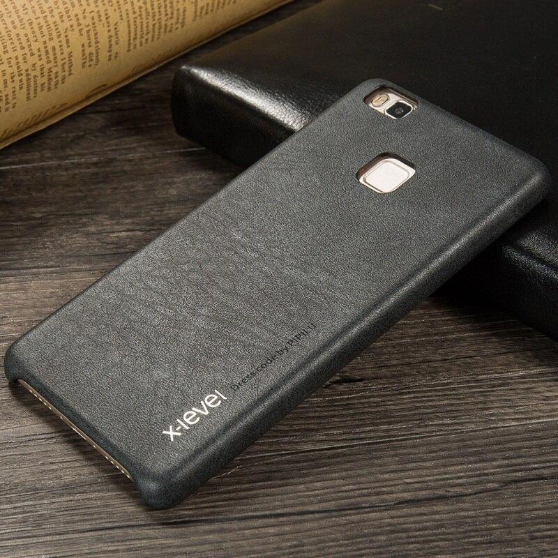imágenes para X-LEVEL para Huawei P 9 Lite Duro Bolsa de La Cubierta de La Vendimia serie De Cuero Duro de Nuevo Caso para Huawei P9 Lite/G9 Lite