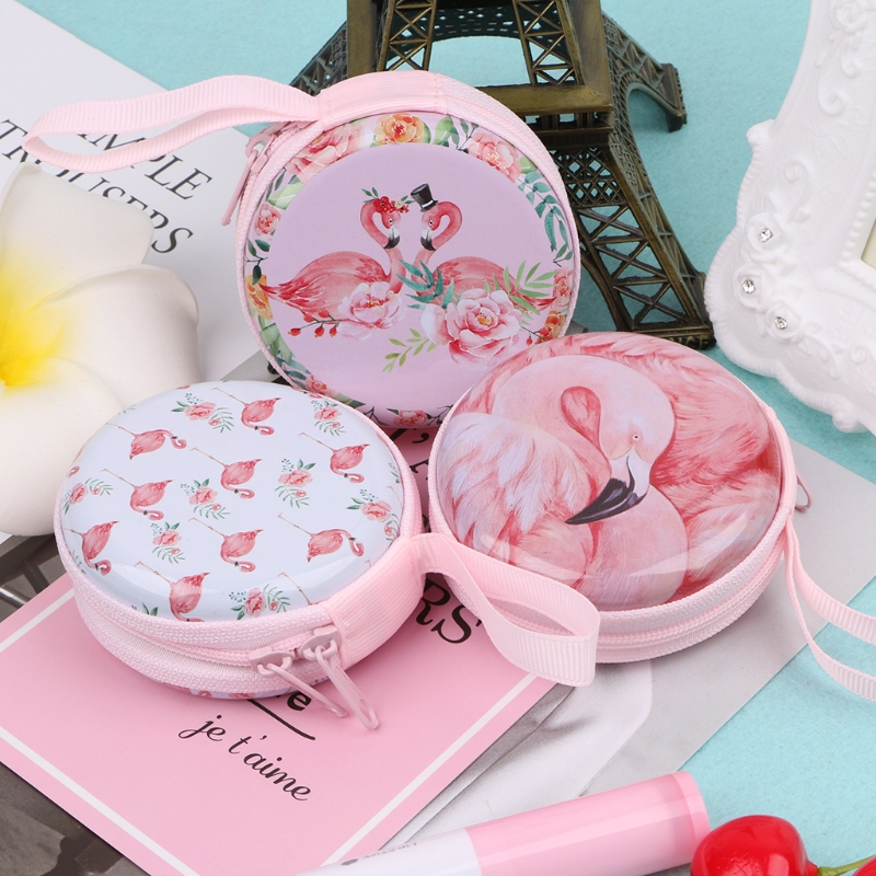 THINKTHENDO Women Fashion Mini Zipper Earphone Headphone Headset Box Bag Girls Small SD Card Carrying Pouch Storage Coin Purse