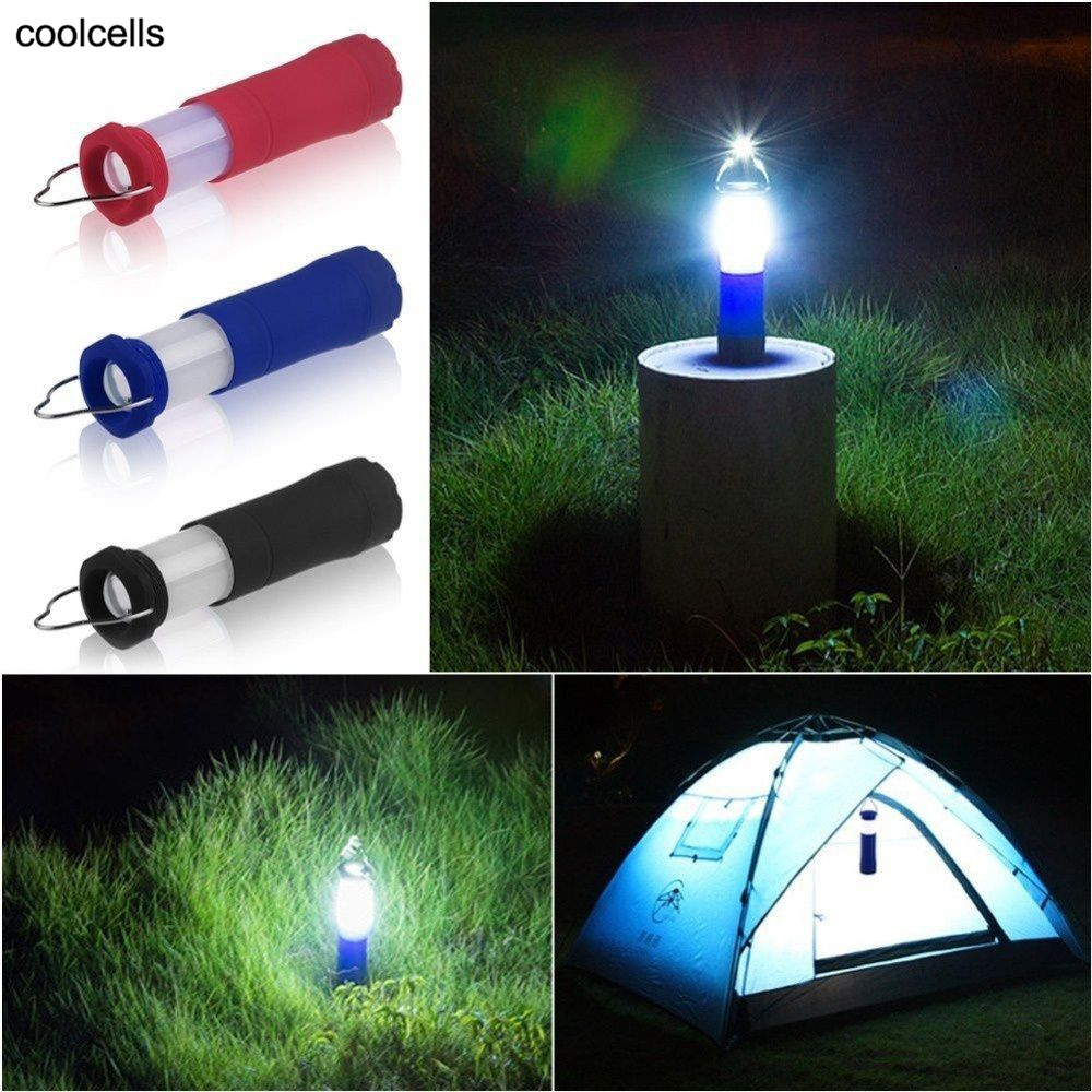 New 3 Colors 3W Tent Camping Lantern Light Hiking LED Flashlight Torch Outdoor Lamp outdoor 100lm 3 mode led zooming flashlight camping lamp lantern blue 3 x aaa