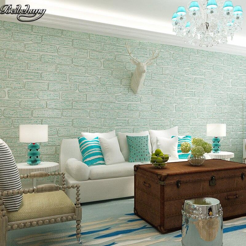 beibehang Mediterranean Retro Brick Wallpaper Cozy Living Room Bedroom TV Background Restaurant Wallpaper