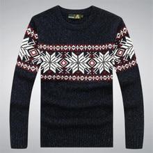 100% Cotton Autumn Winter Sweater men's clothing Pullover Sweaters Men O-neck slim Blusa Masculina Brand White A3041