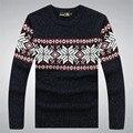 100% homens pulôver dos homens camisola de algodão outono inverno O magro Blusa Masculina marca A3041