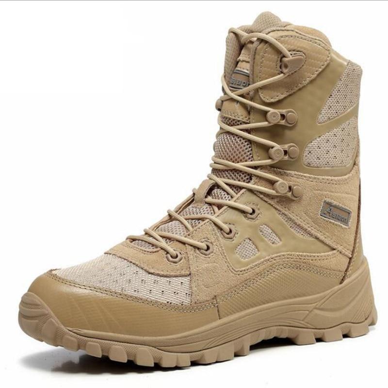 купить Desert Tactical Military Boots Boots Men Shoes Work Outdoor Men Army Boot Militares Tacticos zapatos дешево