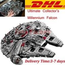LEPIN 05033 5265 UNIDS MOC Star Wars Halcón Milenario de los Ladrillos Del bloque hueco del Colector Final Compatible 10179