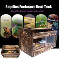 Electric Wood Reptiles Enclosure Heat Cage Lizard Snake Turtle Crab Tank Aquarium Decoration Decor Accessories 5800x300x200