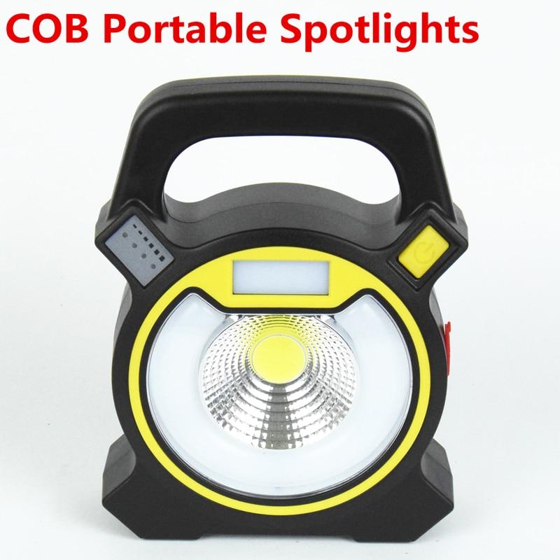30 Вт COB портативный фонарь, прожектор перезаряжаемый прожектор ручной мощность по 18650 портативный свет для кемпинга ...