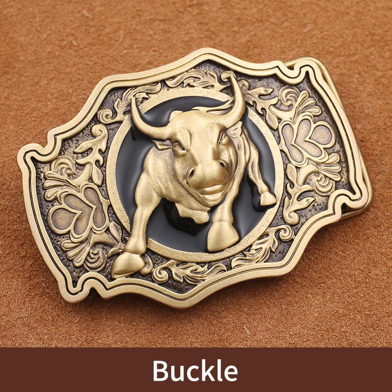 Einzelhandel Neue Stil Hohe Qualität 3D Bull Solide Messing Männer Gürtel Schnalle Mit 85*61mm 141g Metall cowboy Gürtel Kopf Für 3,8 cm Wideth Gürtel