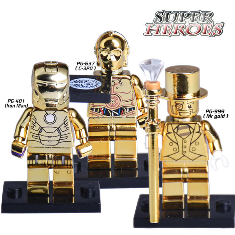 1PC Star Wars C3PO Iron Man Mr Gold Limited Edition Chrom ...