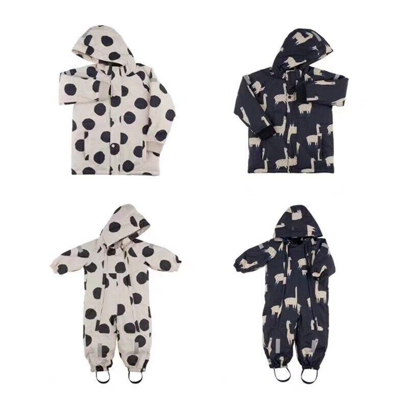 2018 Baby MÄdchen Kleidung Weihnachten Geschenke Jungen Kleidung Mädchen Tc Kleidung Baby Strampler Mantel Jacken Winter Kleidung Lama