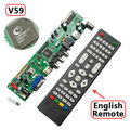 V59 Universal LCD TV Controller Driver Board T.VST590.31 V59 with Remote IR TV+PC+AV+HDMI+USB PAL Support Russian