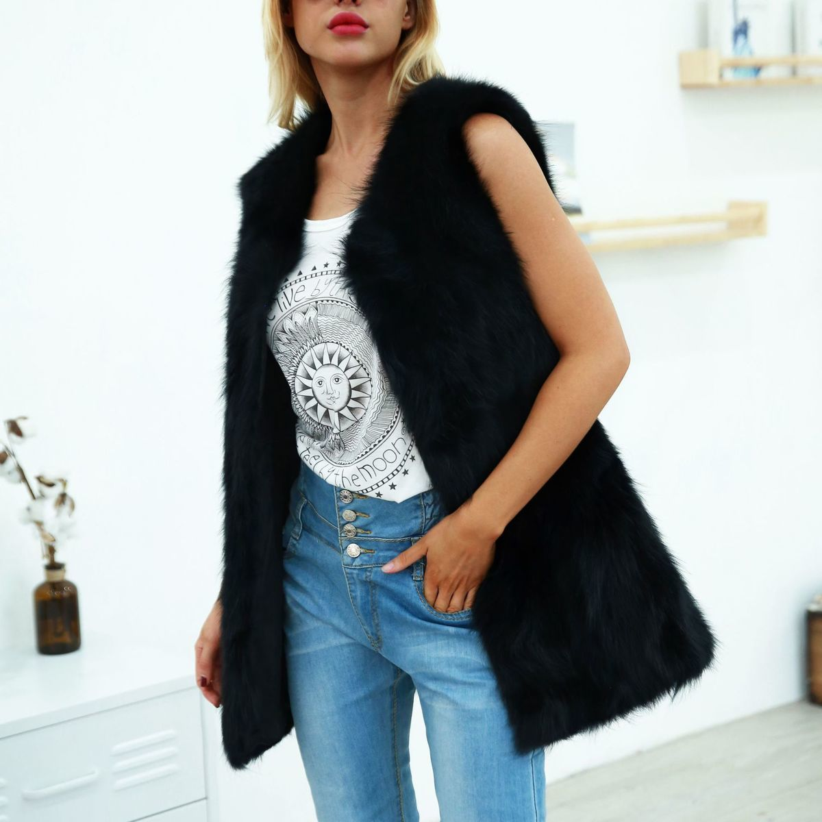 Imitation Fur Coats Vest Plus Size Winter Women s Faux Fur Vest Thick Warm  Top Artificial Fur f0f1033ed9a1