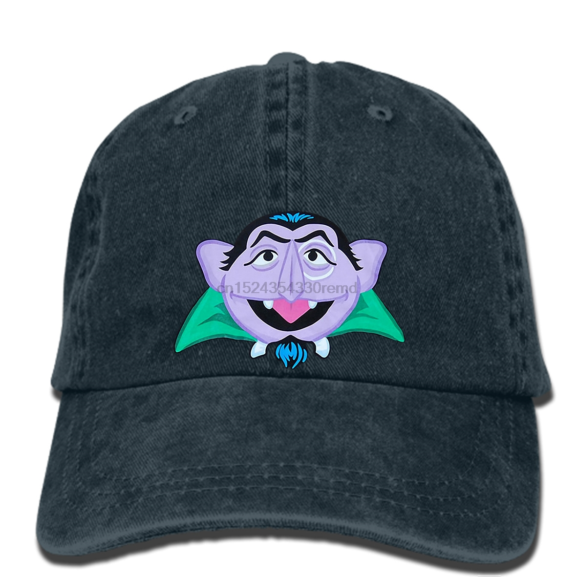 Us 9 9 Hip Hop Baseball Caps Funny Hat Men Novelty Women Sesame Street Count Von Count Face Adult Cap In Men S Baseball Caps From Apparel