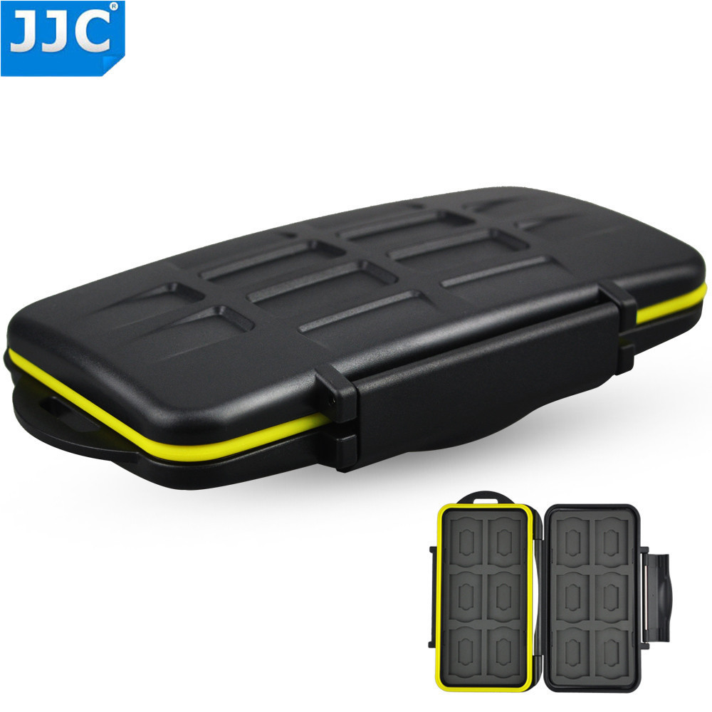 JJC Water-resistant Shockproof <font><b>SD</b></font> Card Holder <font><b>Storage</b></font> Camera Memory Card Bag Case Protector Cover For 12 <font><b>SD</b></font>+12 <font><b>Micro</b></font> <font><b>SD</b></font> Cards image