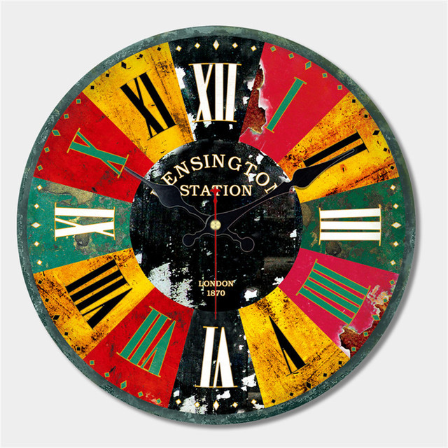 Wonzom artistique grand horloge murale moderne design de mode silencieux salon horloge for Horloge murale moderne salon