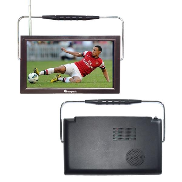 Free shipping 12v LED portable digital tv dvb t2 tv mpeg4 battery powered rechargable television 7 inch portable led tv television dvb t mpeg4 pvr black