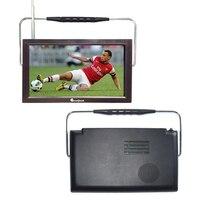 Livraison gratuite 12 v LED portable numérique tv dvb t2 tv mpeg4 batterie alimenté rechargeable télévision