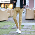 DEE MOONLY 2017 Luxury Brand Straight Business Casual Men Ankle Ninth Pants High Quality Designer Elegant Male Leisure Trousers