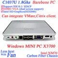 Barebone настольный компьютер с Intel Celeron 1037u X3700 двухъядерный 1.8 ГГц 1080 P