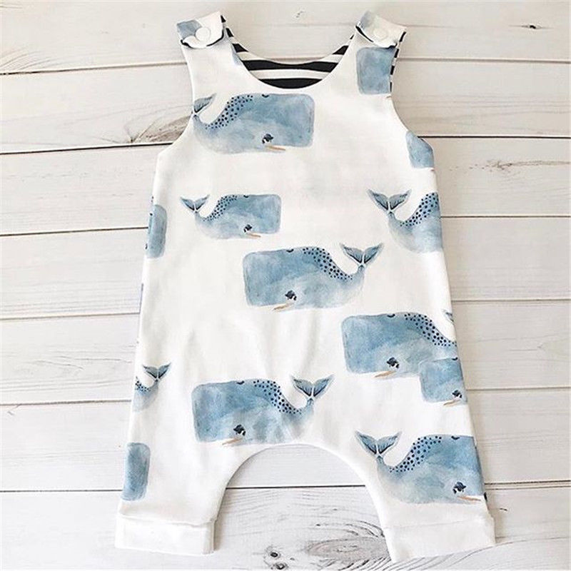 Newborn Toddler Kids Baby Girl Cartoon Cotton   Romper   Jumpsuit Sun suit Clothes Outfits