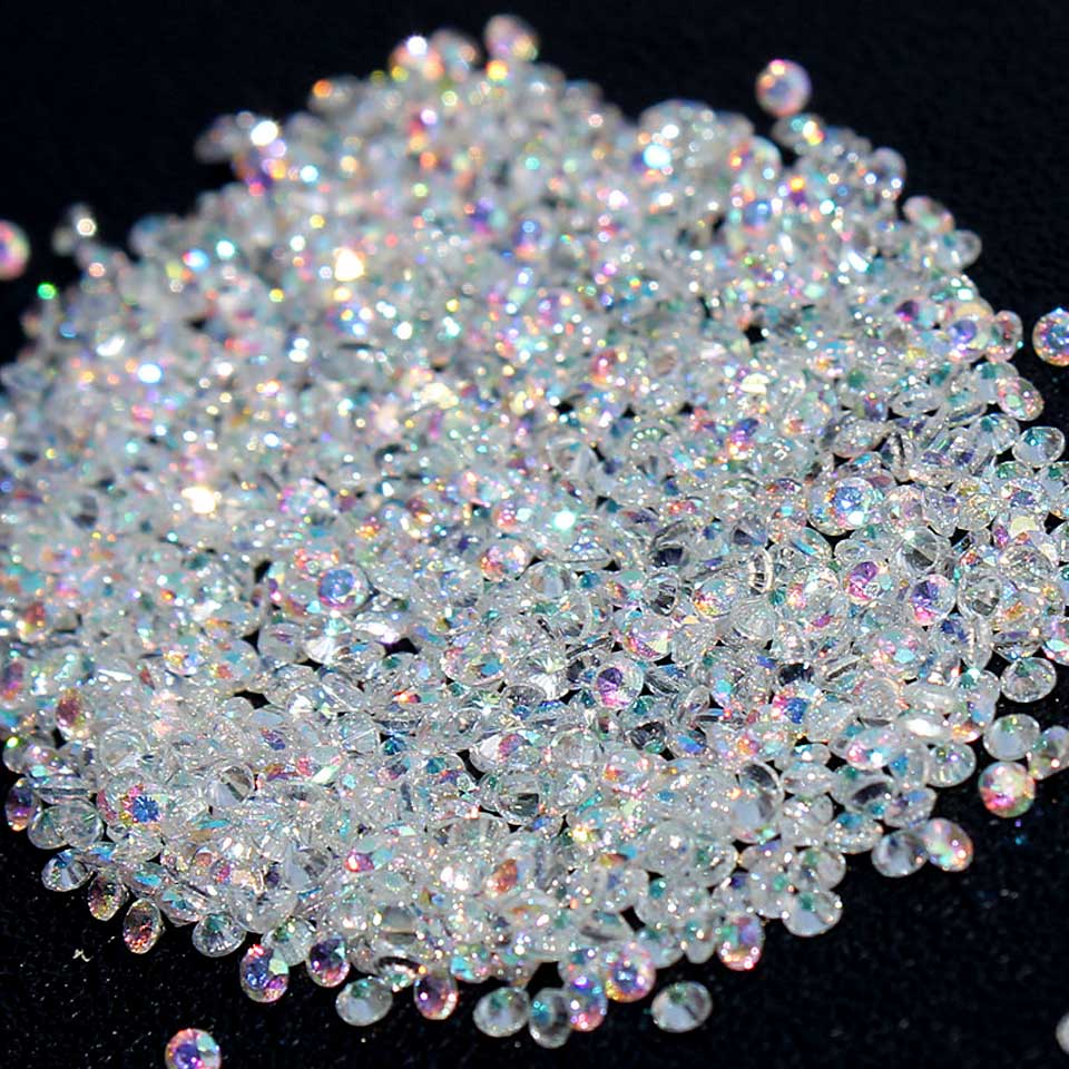 AB Micro Rhinestones for Nails Crystals Pixie Glass Rhinestones for Manicure Nail Art Decorations Nail Design Decorations MJZ001 1 pack micro bead rhinestone crystal pixie caviar beads mini nail art decorations tiny 3d ab glitter rhinestones diy manicure