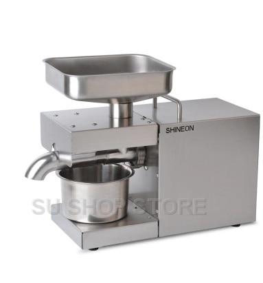 Machine à huile de presse à froid automatique 110 V/220 V, machine de presse à froid d'huile, extracteur d'huile de graines de tournesol, presse à huile 1500W - 5