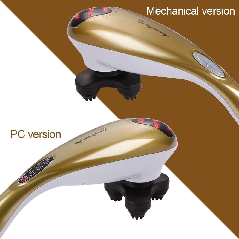 c04  Dolphin massage stick electric Chuibei massage waist and neck cervical vertebra massager on multifunctional body sport