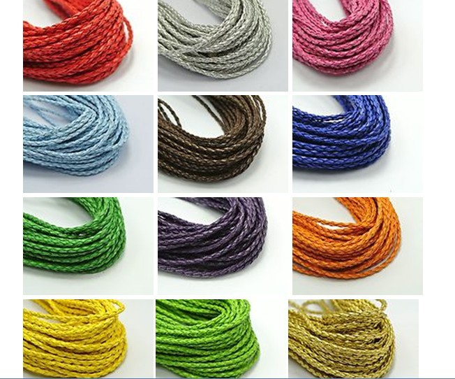 US $8.8 8% OFF8M multicolor BOLO Braided Leatheroid String Jewelry Cord  8mm craft decorative rope pathwork accessories bead hand tablet
