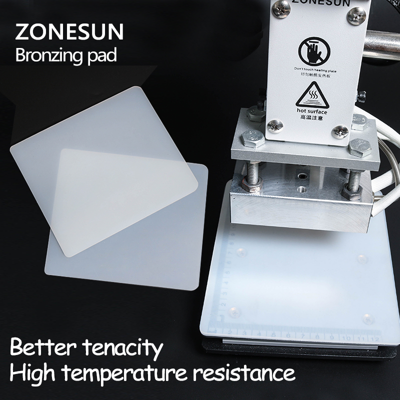 ZONESUN Bronzing Pad Rubber Blanket For Hot Foil Stamping Machine Leather Embossing Machine Accessories Stamp Tool Parts