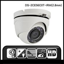 HIK DS-2CE56C0T-IRM(2.8mm) Original english version mini dome camera indoor analog camera IR TVI Security Camera cmos