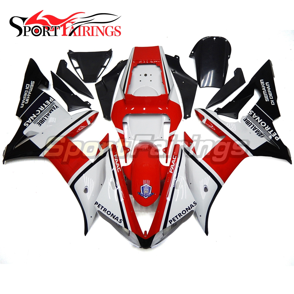 Full Fairings For Yamaha YZF 1000 R1 Year 02 03 2002 2003 Plastics ABS Motorcycle Fairing Kit Bodywork YAMALUBE White Red New custom photo wallpaper retro tropical rain forest palm banana leaves 3d wall mural cafe restaurant theme hotel backdrop frescoes
