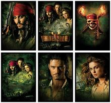 Pirates of the Caribbean Dead Man's Chest Movie Home Decorative Painting White Kraft Paper Poster 42X30cm where the wild things are movie home decorative painting white kraft paper poster 42x30cm