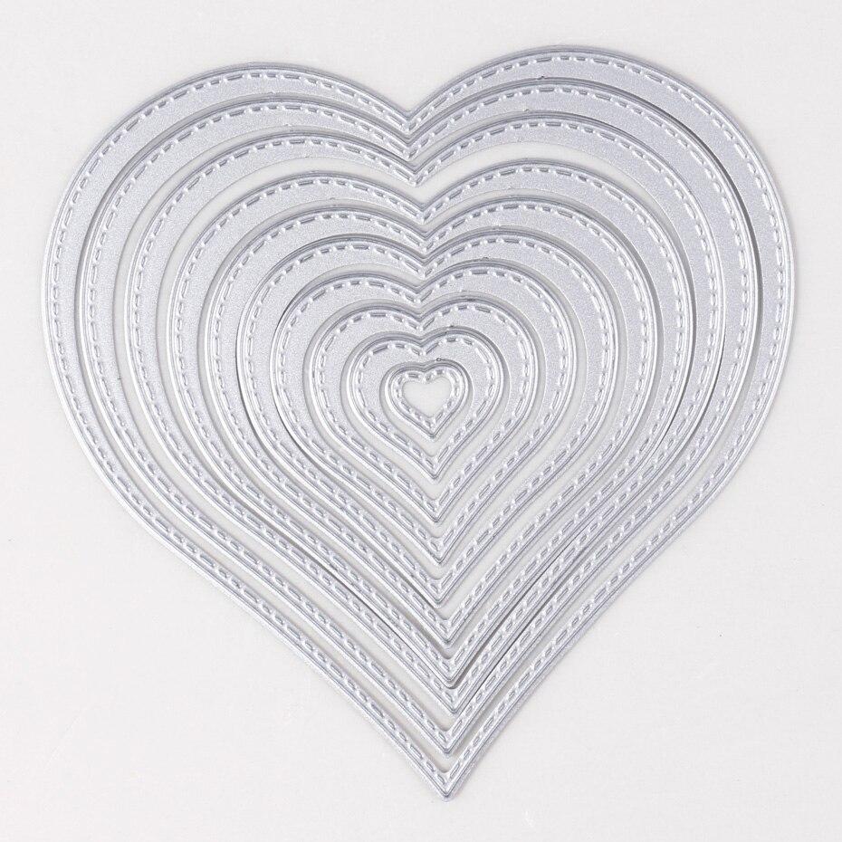 ᑐ10 unids Sweet love Metal Troqueles De Corte DIY de Scrapbooking ...