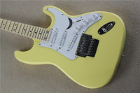 Cream Yellow Scalloped Maple Fingerboard Yngwie Malmsteen Signature Floyd Rose ST Standard Electric Guitar SSS Pickups
