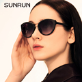 Sunrun o new cat eye sunglasses mulher sunrun luxo original marca designer óculos vintage da mulher retro oculos de sol 9718