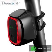 Meilan X6 Inteligente Trasera de Bicicletas Luz de Bicicletas Ciclismo Lámpara De Cola 16 USB LED Recargable Linterna de 7 Modos de 4 Colores A Prueba de Agua de Lluvia