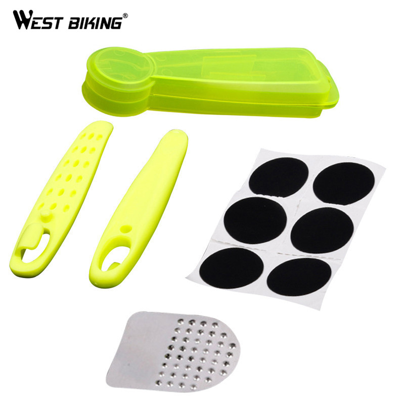 WEST BIKING Mountain Bike Tire Repair Tools Portable No Glue Chip Tyre Spoon Bicycle Road Bike Cycling Tire Repair Tools Set
