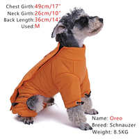 NEW Pet Waterproof Warm Covery Professional Full Jacket Dog Windproof Winter Fashion Coat With Two Color