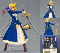 Japanese Anime Action Figure Fate/stay Night Zero Figma 025# Saber Version Pvc 14cm Fate Saber Model Face Can Be Changed Doll