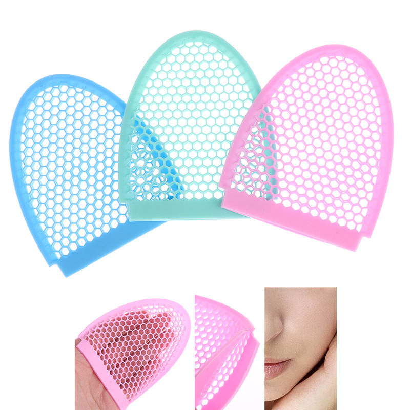 1PCS Soft Silicone Skin-friendly Silicone Massage Brush Clean Beauty Silica Gel To Black Wash A Face To Brush Honeycomb Gloves